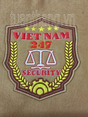 Thêu logo bảo vệ